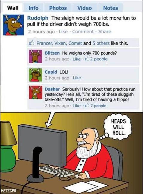 Friday Funny: Rudolph Forgot He U201cfriendedu201d Santa A Touch Of Cass