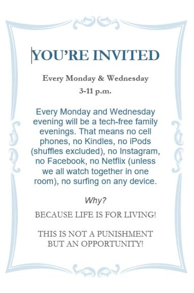 tech free invite