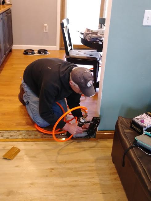 Dan working