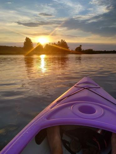 loving - sunset kayaking