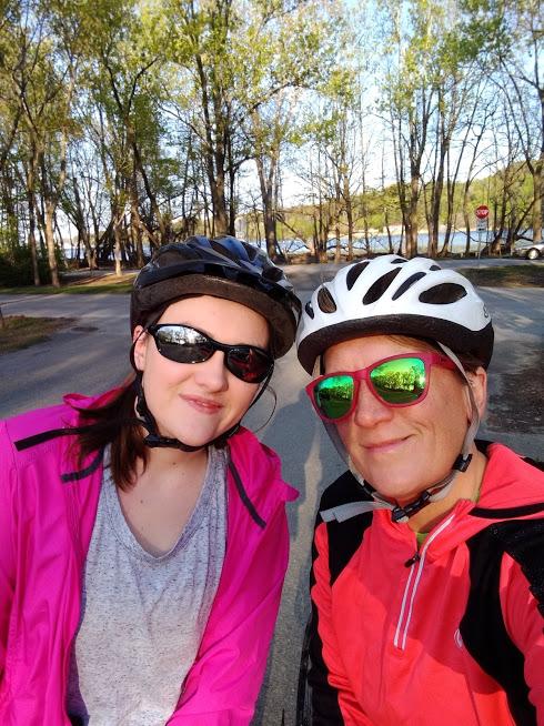 biking at PISP