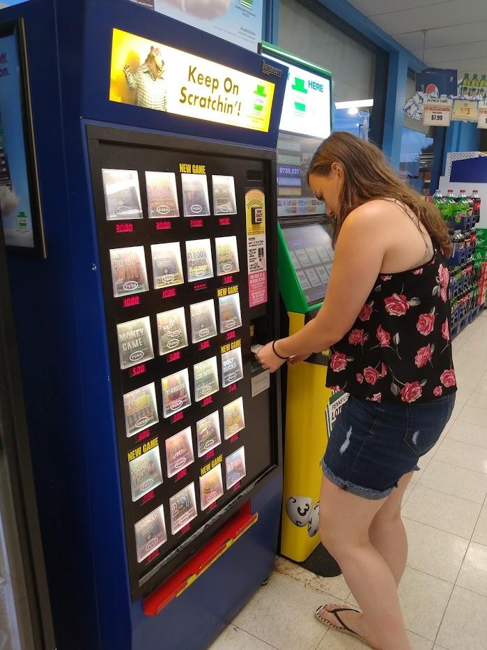 lauren buying lottery tix